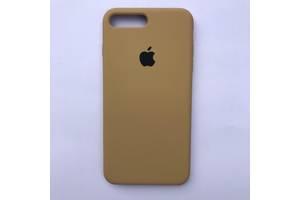 Чехол Silicone Case для Apple iPhone 7 Plus, 8 Plus Gold