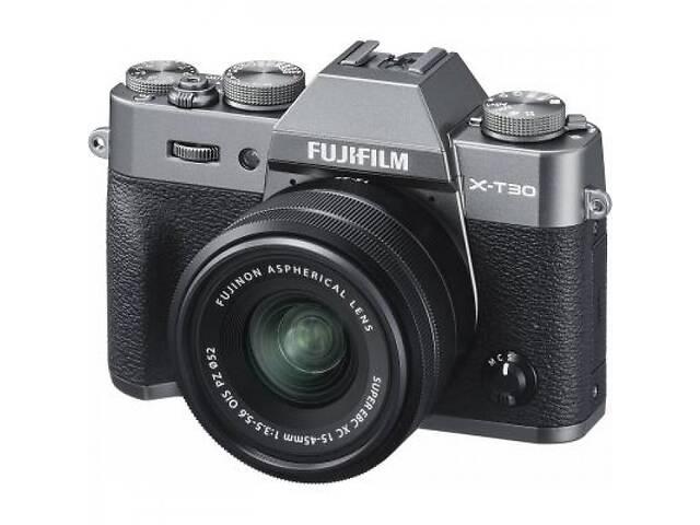 купить бу Фотоаппарат Fujifilm X-T30 + XC 15-45mm F3.5-5.6 Kit Charcoal Silver (16619401) в Харкові