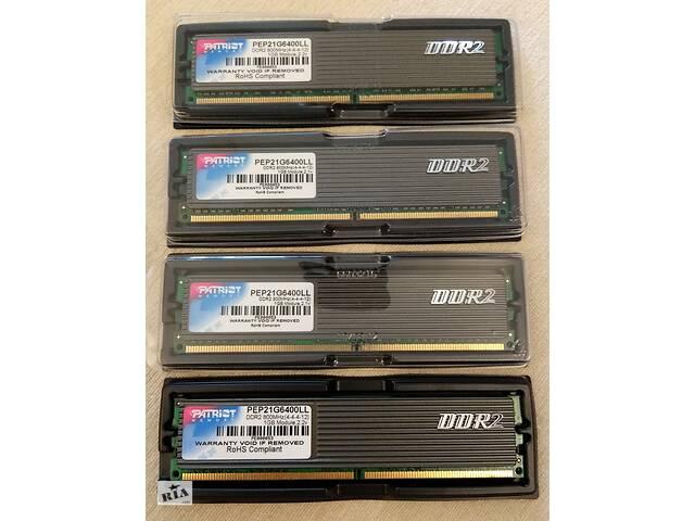 купить бу Пам'ять для ПК Patriot 4x1Gb DDR2 800 MHz DIMM в Львове