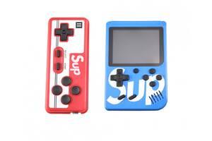 Портативна ігрова ретро приставка з джойстиком 400 ігор Dendy денді SEGA 8bit SUP Game Box синій