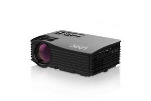 Проектор портативный мультимедийный для домашнего кинотеатра презентаций LCD Unic JSQ-UC68 Wi-Fi Черный (gr_011697)