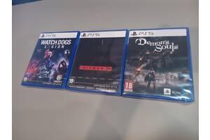 PS5 Диски Demon& # 039; s Souls, Watch Dogs Legion і Hitman 3