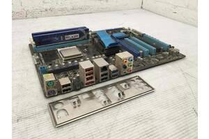 Рабочий Комплект Материнская плата ASUS M4A87TD-EVO + AMD Athlon II x3 445 3. 10ГГц + 4ГБ Hynix DDR3 + Заглушка из США