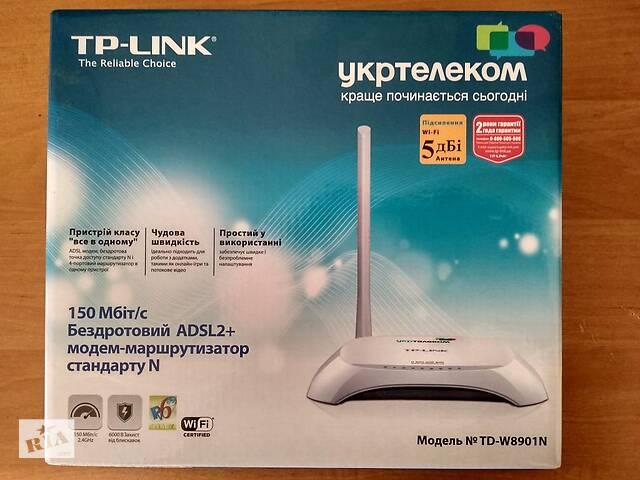 продам Роутер ADSL+ для Укртелеком: TP-Link TD-W8901N бу в Києві