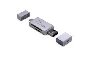 Считыватель флеш-карт Argus USB2.0, Micro-USB/Lightning, TF, SD (R-004)