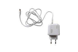 Сетевое зарядное устройство для телефона/планшета Type-C MOXOM KH 70Y Quick charge 3.0 5V 1м/Зарядка