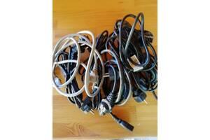 Мережевий шнур (кабель) для оргтехніки (ПК, принтера, МФУ, факсів) 10 штук