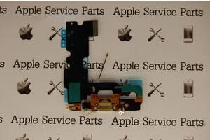 Шлейф Apple iPhone 7 коннектора зарядки, коннектора наушников, с компонентами Silver