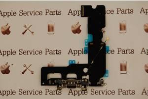 Шлейф Apple iPhone 7 Plus коннектора зарядки, коннектора наушников, с компонентами Black