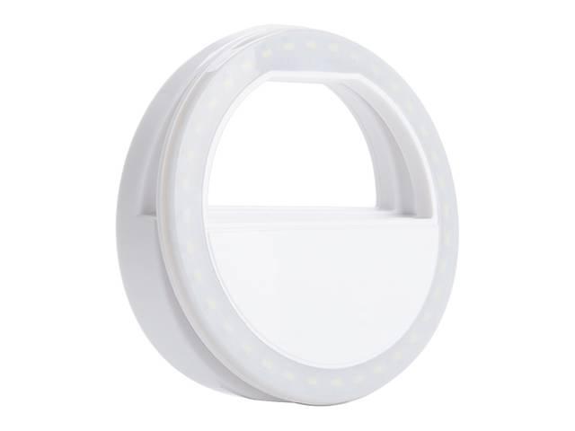 купить бу Светодиодное  селфи кольцо на телефон Selfie Ring Light 39 диодов Белый (REka66) в Киеве