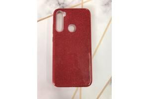 Силиконовый чехол с блестками для Xiaomi Redmi Note 8 Красный