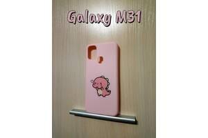 Силиконовый чехол с принтом Samsung Galaxy M31 Розовый