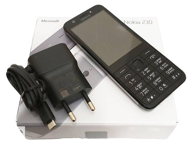 бу Телефон Nokia 230 Dual Sim Dark Silver/Black Б/У в Киеве