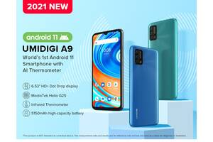 UMIDIGI A9 •СВІЖАК 2021 року •Android 11•інфрачервоний термометр!!!