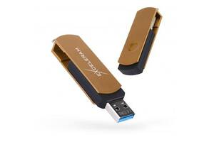 USB флеш накопитель eXceleram 32GB P2 Series Brown/Black USB 3.1 Gen 1 (EXP2U3BRB32)
