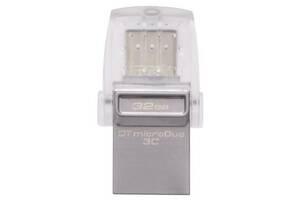 USB флеш накопитель Kingston 32GB DataTraveler microDuo 3C USB 3.1 (DTDUO3C/32GB)