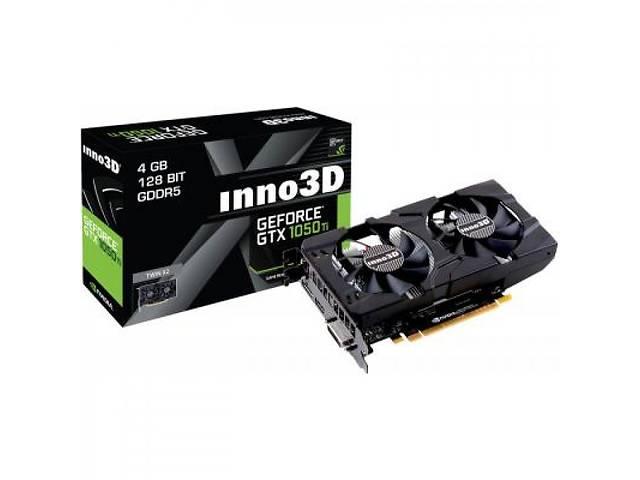 купить бу Видеокарта Inno3D GeForce GTX1050 Ti 4096Mb HerculeZ Twin X2 (N105T-1DDV-M5CM) в Харькове