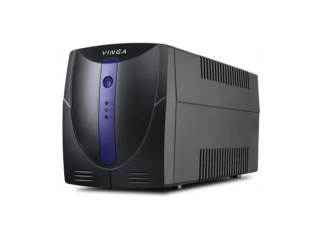 бу Источник бесперебойного питания Vinga LED 1200VA plastic case with USB+RJ11 (VPE-1200PU) в Харькове