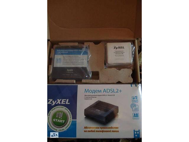 купить бу Ю Двухдіапазонний модем ADSL2+AnnexA/B з портом Ethernet.Модель P660RT2 EE : Платформа ZyXEL AbsoluteADSL в Долине