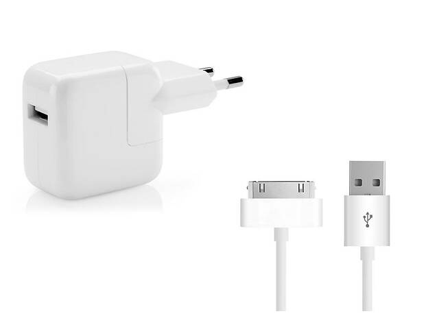 продам Зарядное устройство для планшета Apple iPad 1,2,3, iPod Touch, Nano 5.1V 2.1A 10W в комплекте с кабелем (30-pin) бу в Харькове