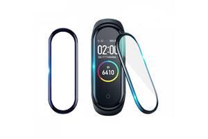 Защитная пленка для фитнес браслета Xiaomi Mi Band 4 с рамкой, комплект - 2 шт.
