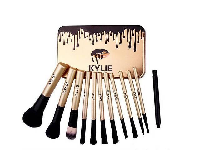 купить бу набор кистей для макияжа kylie jenner 12 шт, кисти для макияжа кайли в Харькове