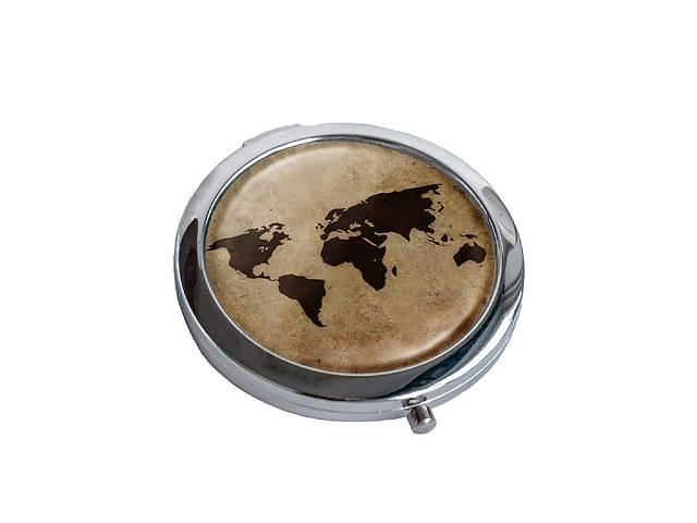 бу Зеркальце косметическое DM 01 Карта мира коричневое - 176841 в Одессе