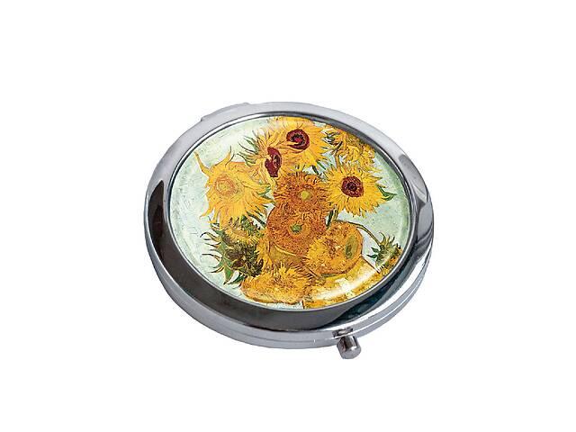 купить бу Зеркальце косметическое DM 01 Подсолнухи разноцветное - 176827 в Одессе