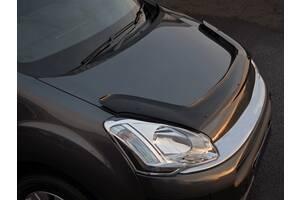 Дефлектор капота (EuroCap длинная) Citroen Berlingo 2008-2018 гг. / Дефлектор на капот (Мухобойка) Ситроен