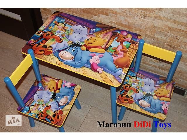 купить бу Детский стол со стульчиком Винни пух мед варианты в Одессе