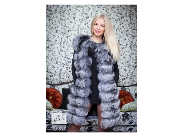 продам Длинная женская жилетка из чернобурки бу в Одессе