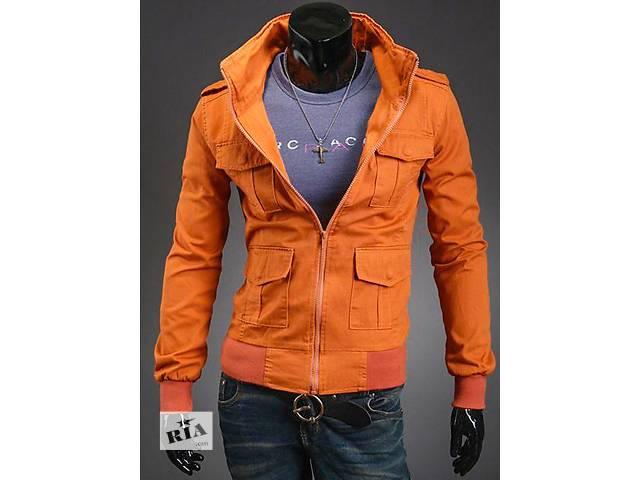 продам Джинсовая куртка оранжевого цвета бу в Черкассах