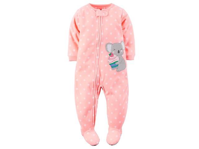 купить бу Флисовые пижамы-человечки для девочек до 5 лет Carters(США) в 6769236cf3975