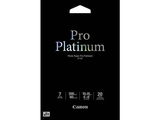 купить бу Фотобумага CANON 100mmx150mm Pro Platinum Photo Paper, 20л (2768B013) в Киеве