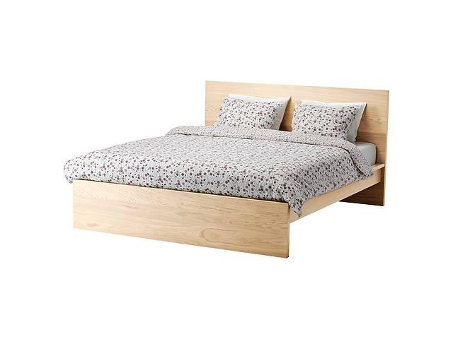 бу Каркас двуспальной кровати IKEA MALM 140 x 200 см Светло-коричневый (590.225.47) в Києві