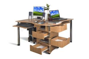 Компьютерный угловой стол для двоих Тиса Эксклюзив - 4