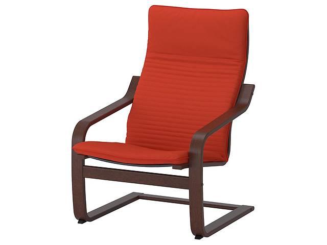 Кресло IKEA POÄNG Knisa Красный с коричневым (692.408.56)- объявление о продаже  в Києві