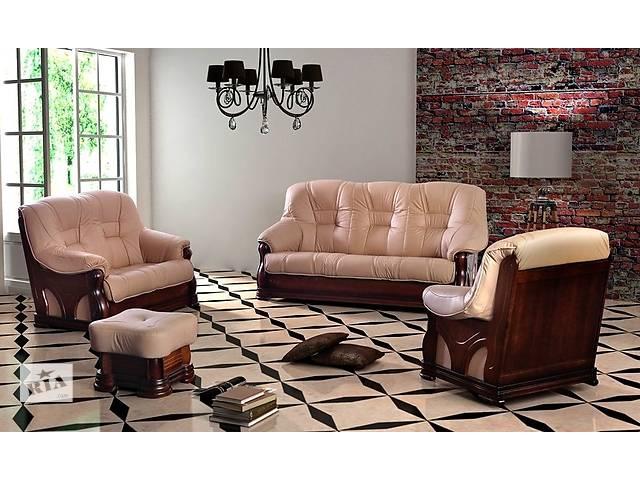 продам Новый комплект; кожаный диван и кресло Bshys. Фабричное производство, кожаная мебель, набор. бу в Луцке