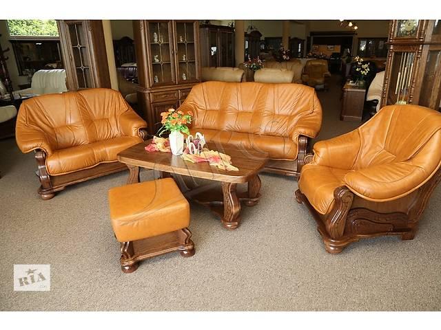 купить бу Новый комплект; кожаный диван и кресло Parys. Фабричное Польское производство. Кожаная мебель. Набор в Луцке