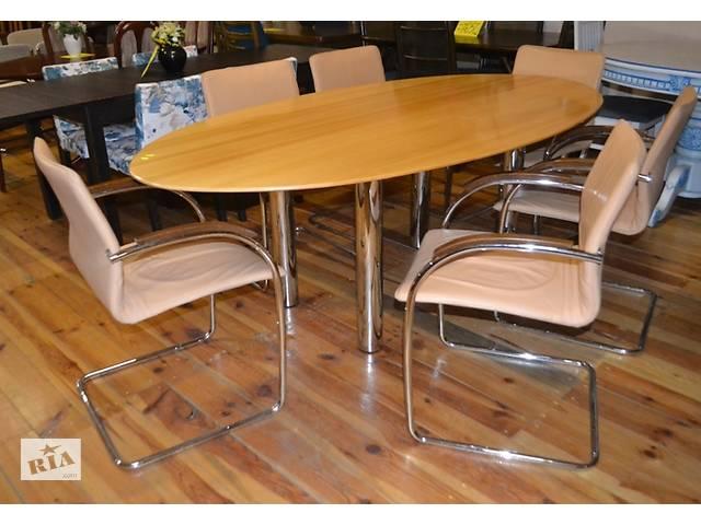 Овальний стіл + 6 шкіряний стільців- объявление о продаже  в Луцке