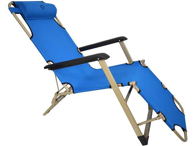купить бу Шезлонг лежак Bonro 180 см голубой в Дубно (Ровенской обл.)