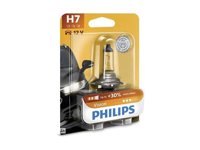 Галогенная лампа 12v 55w h7 vision + 30% & quot; блистер & quot; PHILIPS на TIGGO 3, TIGGO Тигго 3- объявление о продаже  в Киеве