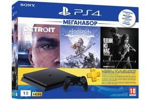 Игровая приставка PlayStation 4 Slim 1Tb (Horizon Zero Dawn + Detroit + The Last of Us + PSPlus 3М) (9926009)