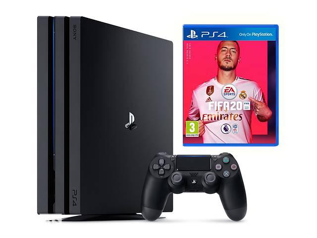 бу Игровая приставка Sony Playstation 4 Pro 1TB plus FIFA 20 в Харкові