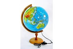 Глобус 3D с подсветкой 320 мм физический (рус.) BST 540110