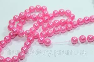 Бусы пластмассовые на колье (Ø6/100см):Розовый