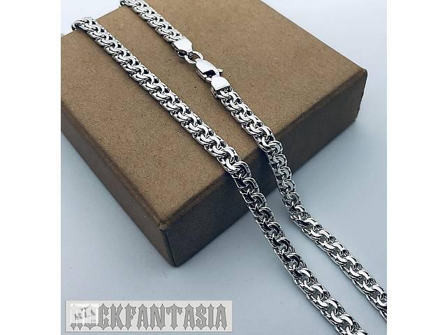 продам Срібна чоловічий ланцюжок бісмарк гранований, срібна цепочка бісмарк бу в Хмельницькому
