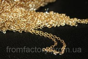 Цепочка металлическая 100см/Ø3мм (золото/серебро):Золотая