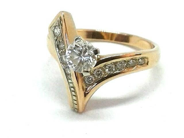 бу Золотое кольцо с бриллиантами в Дніпрі (Дніпропетровськ)