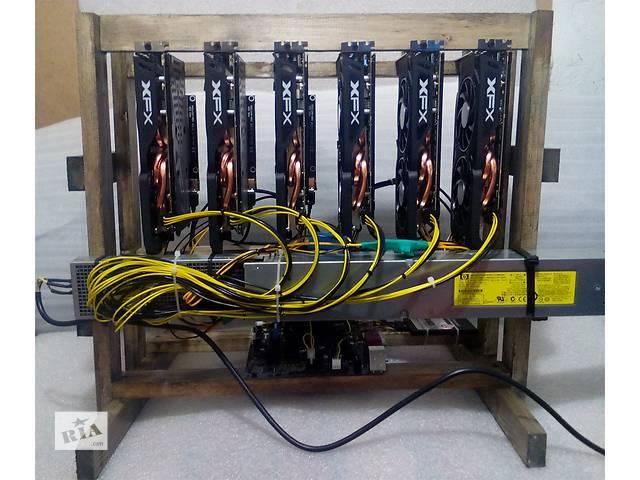 купить бу GPU Ферма для майнинга. (6GPU*RX470) в Харькове